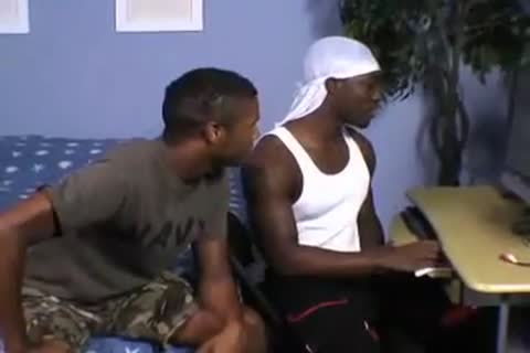 tight ebony pair Making Out