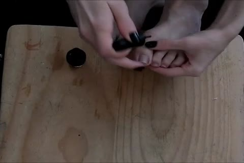 Foot pound- Painting Toenails And Getting cum On Feet!