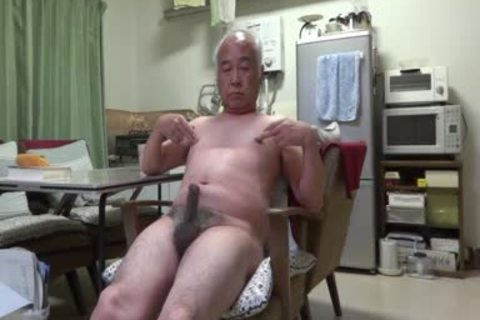 Japanese daddy man good Feelings man Even Touching The teat