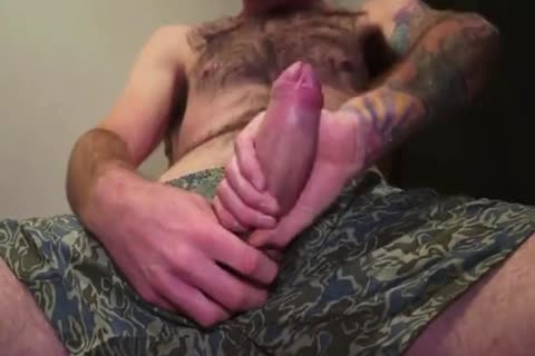 sleazy Beard Hipster Jerkoff And Eat His Own sperm