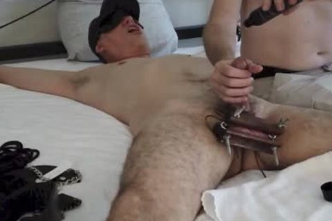 My Buddy Crushed My Balls whilst F@rcing Me To let fly A Load, Whether I Wanted To Or Not. One Of The Hottest Scenes I have Had To Submit To.
