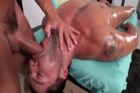 Dominic Pacifico gets A Massage