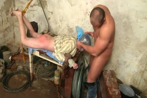 A young gay man Is Dominated By His friend