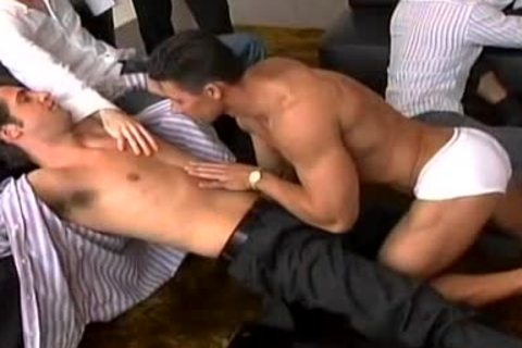 A Striptease That Leads To A large homo orgy!