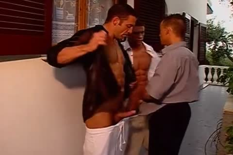Three Blistering men Are Going In Each Others Bottoms.