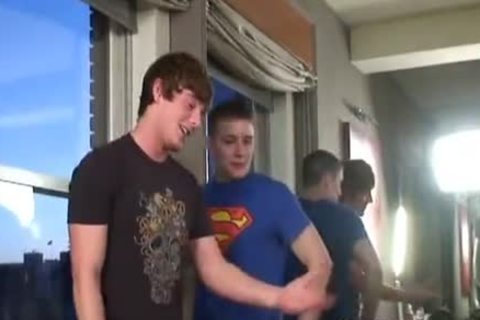 Brent Corrigan receives Double Dicked By naughty teens
