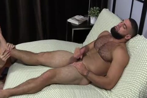 Ricky Larkin Jerking while Toe Sucked