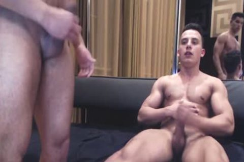 pumped up Ripped guys Show Off Monster cocks