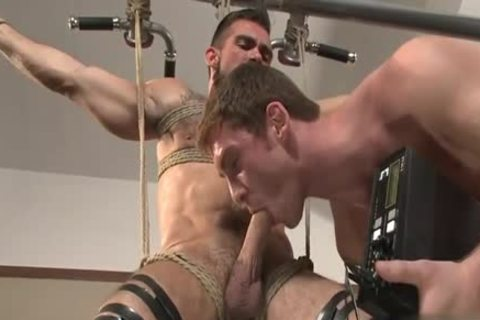 large penis gay tied With Facial