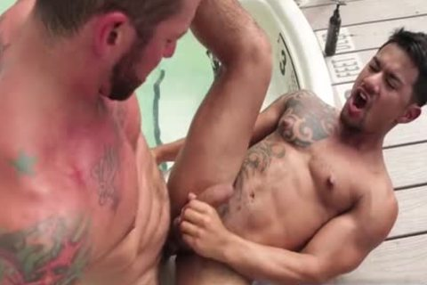 Tattoo homosexual a bit of wazoo With cumshot