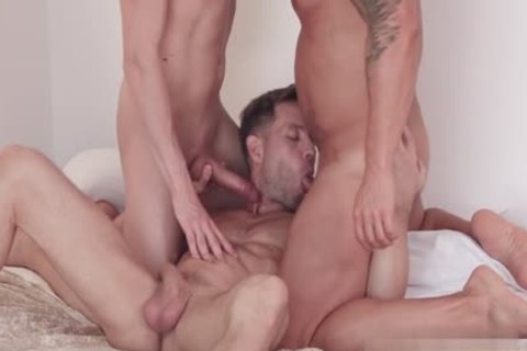 Russian homosexual 3some And Facial
