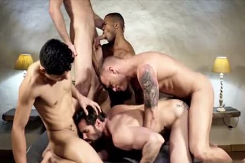 attractive homo double penetration With sperm flow