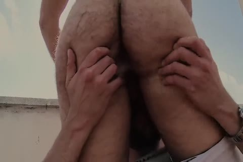 Roof excited bushy homosexual Sex