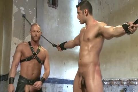 Muscle homo tied And Facial love juice