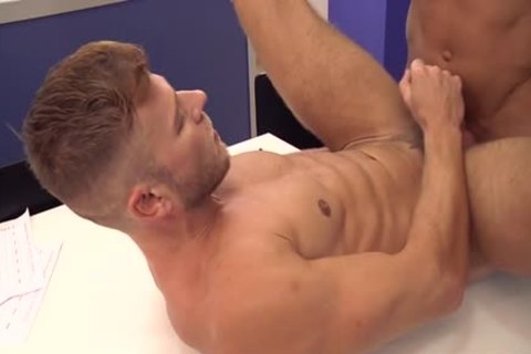 Muscle homosexual arse stab And cumshot