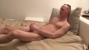 Czech lad plays with dong and endures pang
