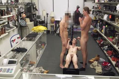 gay PAWN - Fitness Trainer gets butthole banged By Two Employees