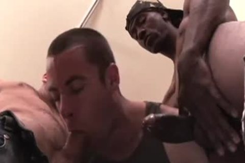 Cumdump Bottom Impaled By Two Hung guys