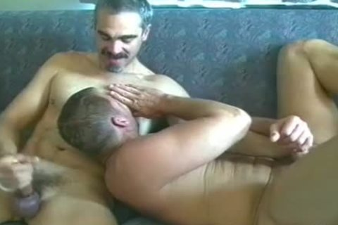 Two handsome guys enjoy A Hard ass plow On The daybed