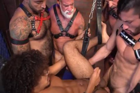 Dereks Leather Daddy bunch gangbang Part two