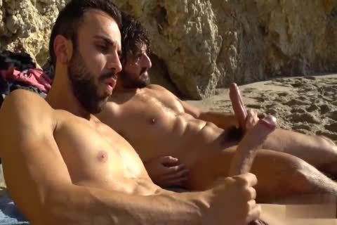 humongous knobs wanking AT THE BEACH
