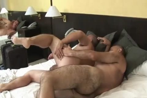 lovely Latin daddy Daddy Sucks & receives pounded By hairy grand-dad