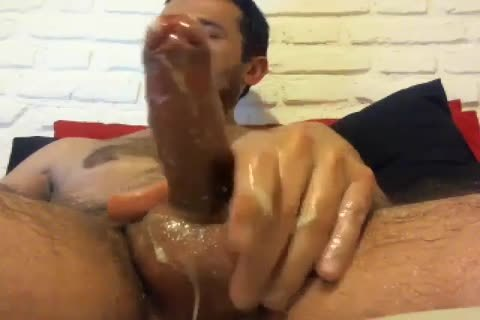 Oiled Up Daddy Likes To Jack Off