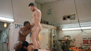 Tom Of Finland: Service Station: raw - Ricky Roman and River Wilson American Nail