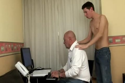 big Dicked twink pounds daddy bulky grand-dad