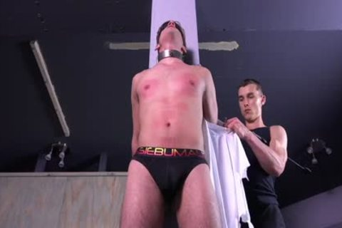 obscene Michael DelRay fastened & Dominated In Sadomasochism Dungeon