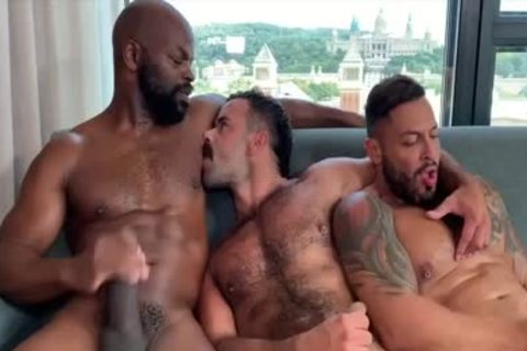 I'm A Fan Of His Way Of sucking And Being Bottom: Damn So fine three-some