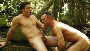 Drill My Hole: Paul Canon & Colby Tucker licking ass outdoors