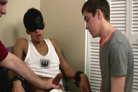 homo teen First Time engulfing A Restrained Straight humongous knob