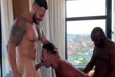 I'm A Fan Of His Way Of Engulfing And Being Bottom: Damn So slutty 3some