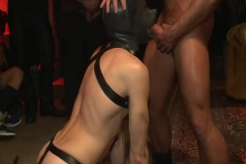 tied Up And pounded In Front Of 100 lascivious males