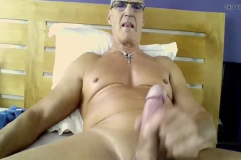 Smooth Uncut daddy Cums On His Belly