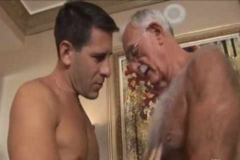 hirsute old man Mutual Masturbation With Younger Coworker
