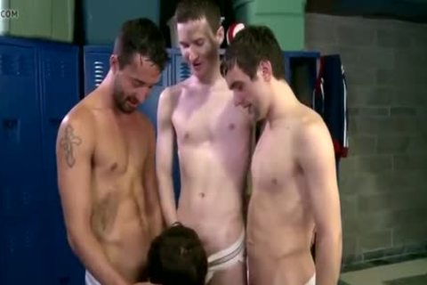delicious youthful ramrods Sucked Off By Teammate In Lockerroom