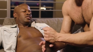 NoirMale: Shaved Troy Velez gets ass licked indoors