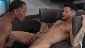 NoirMale - Black haired Deep Dic anal