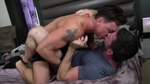 IconMale: Muscle Billy Santoro with Cade Maddox reality rimjob