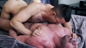 Icon Male: Billy Santoro together with Nic Sahara butt fuck