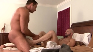 Icon Male - Hairy mature Adam Russo fetish blowjob cum in HD