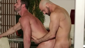 IconMale: Billy Santoro and Adam Russo masturbation in office