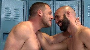 Men Over 30 - Hans Berlin beside bald Lex Ryan facial porn