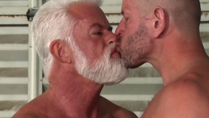 Men Over 30: Hairy gay Clay Towers rushes slamming hard