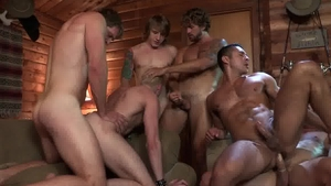 FalconStudios: Lustful Tom Faulk helps with orgy