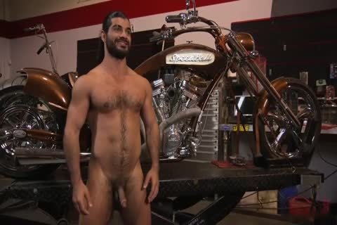 Ali Liam yummy Biker acquires Edged In The Motorcycle Garage