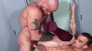 MenOver30.com: Sean Duran beside gay Damien Crosse throat fuck
